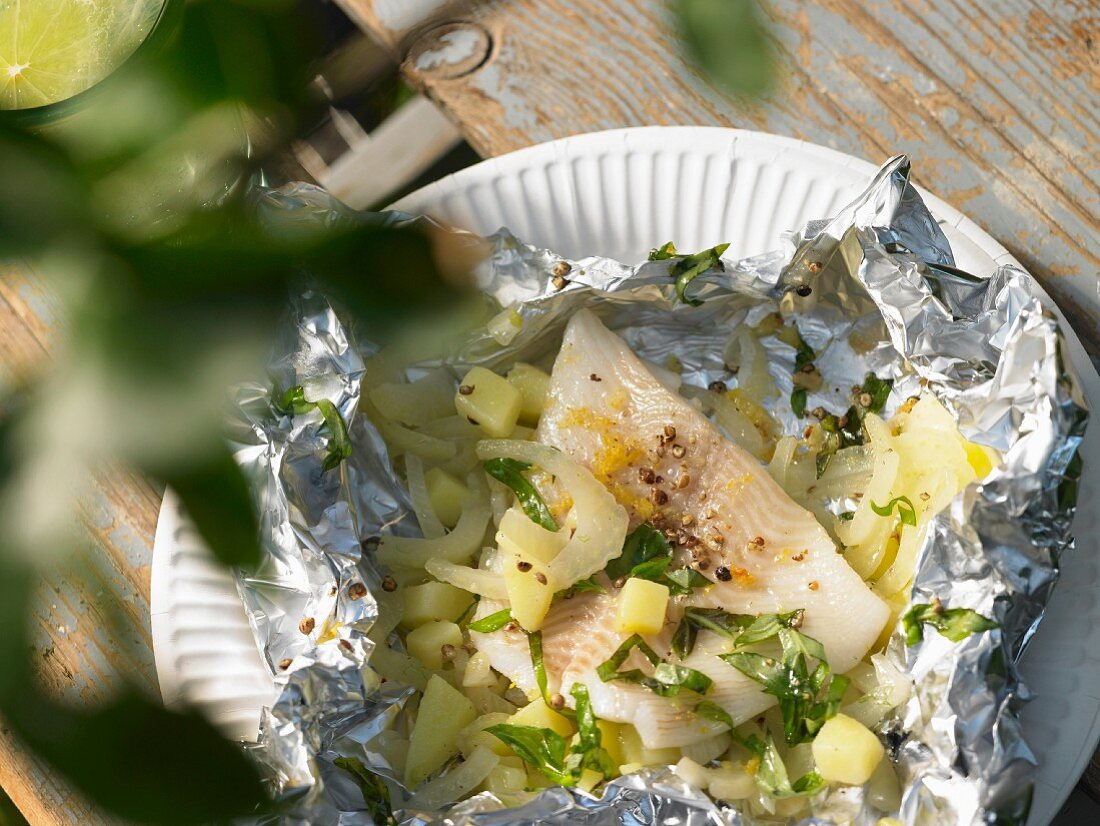 Halibut with fennel and potatoes