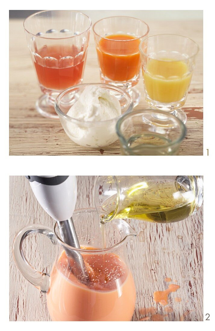 How to make vitamin juice with quark and rapeseed oil