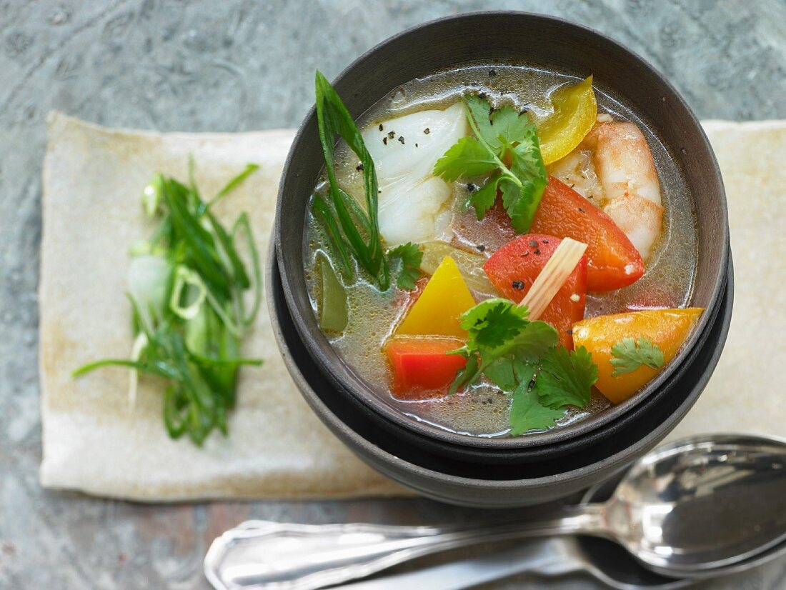 A Brazilian fish pot with coconut and chilli