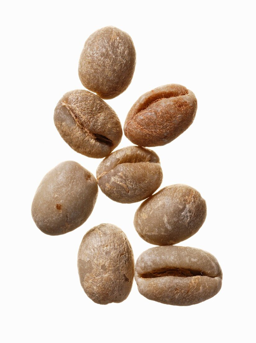 Unroasted coffee beans, Brazil
