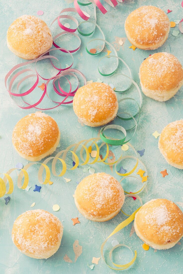 Doughnuts with carnival decorations