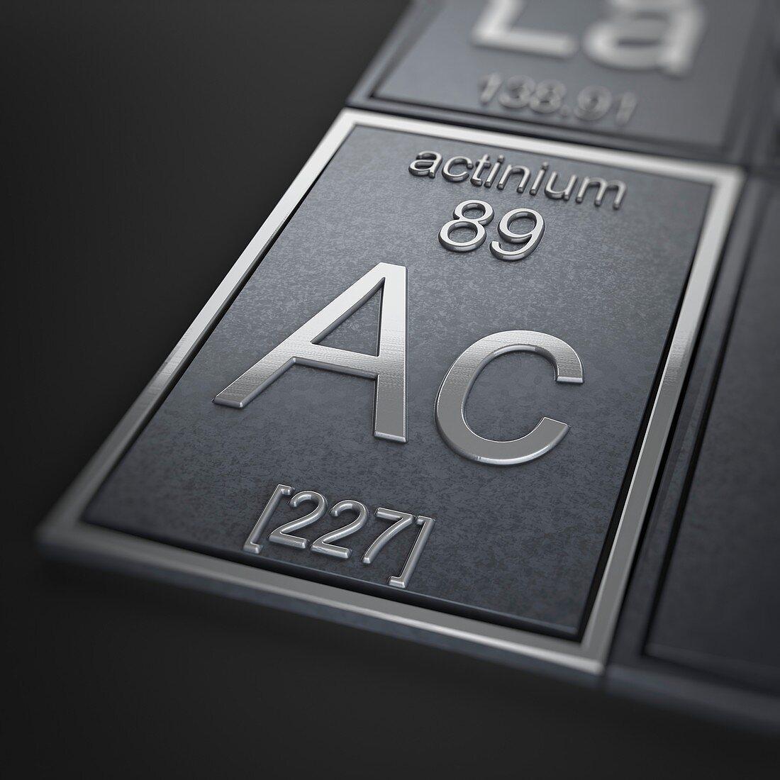 Actinium, artwork