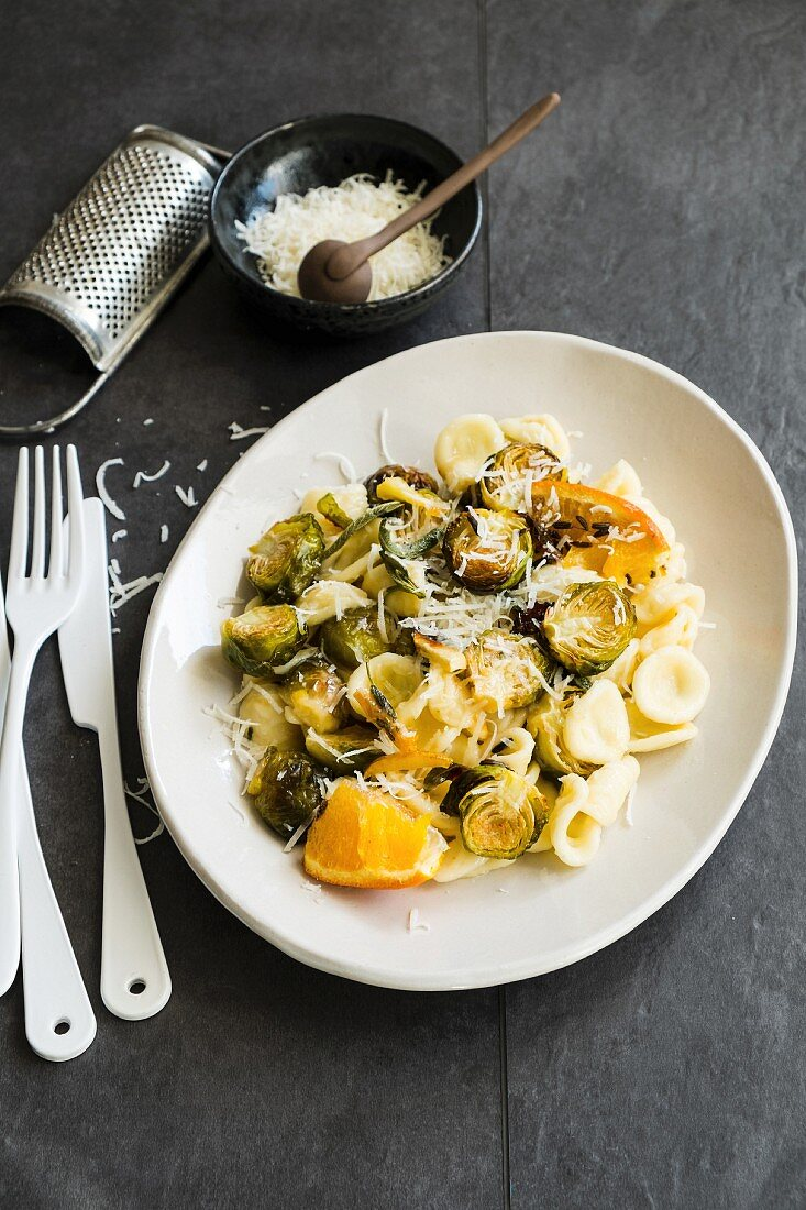 Orecchiette with Brusels sprout and orange