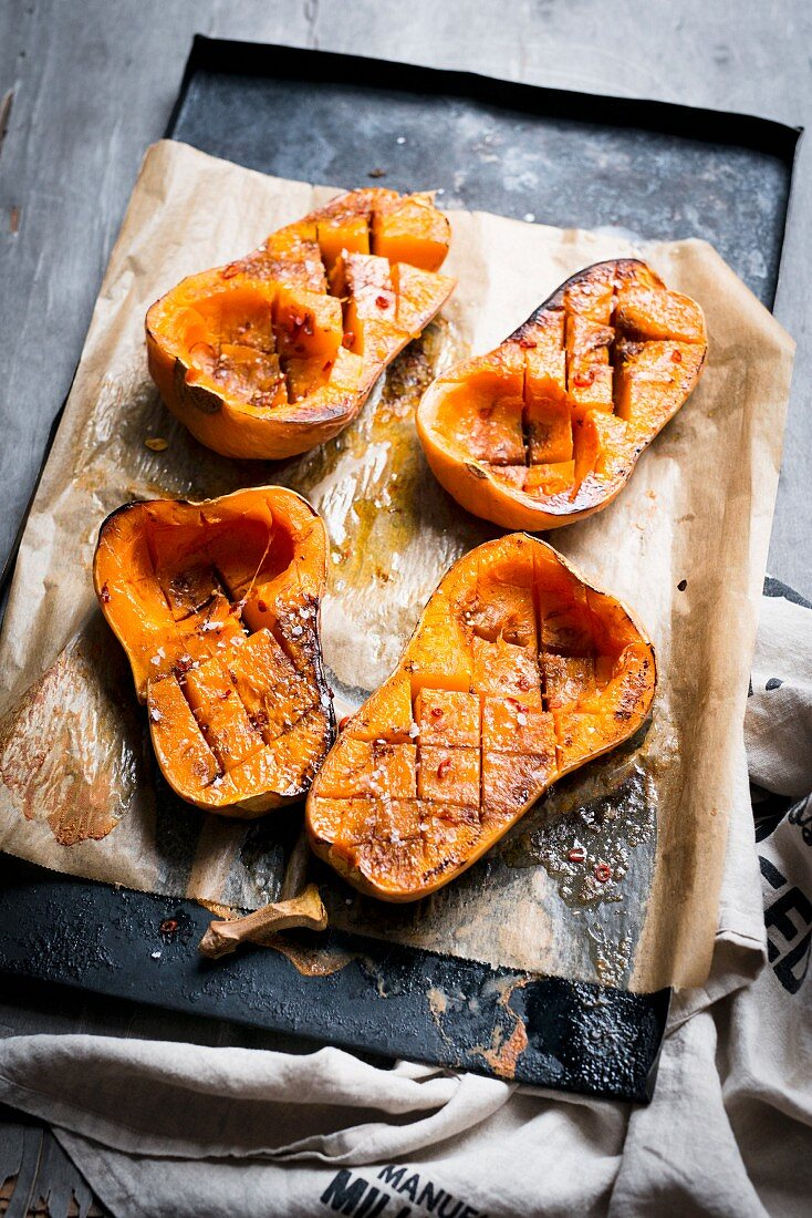 Butternut squash fresh from the oven