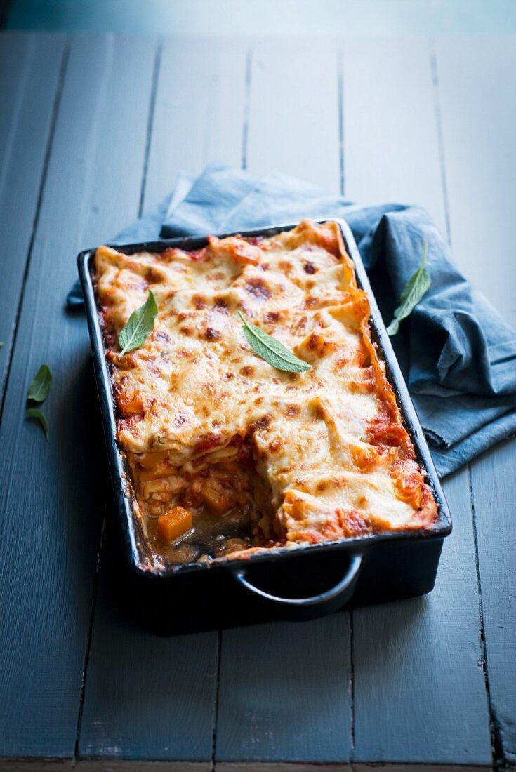 Pumpkin lasagne with sage