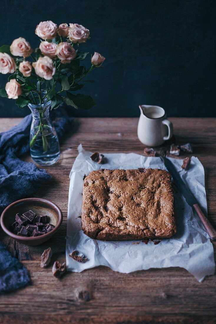 Chocolate and figs oat bars