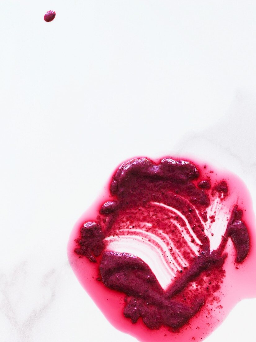 Melted blueberry ice cream