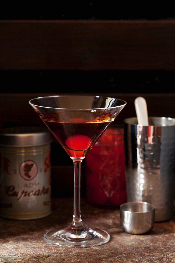 Bourbon Black Forest Martini Cocktail