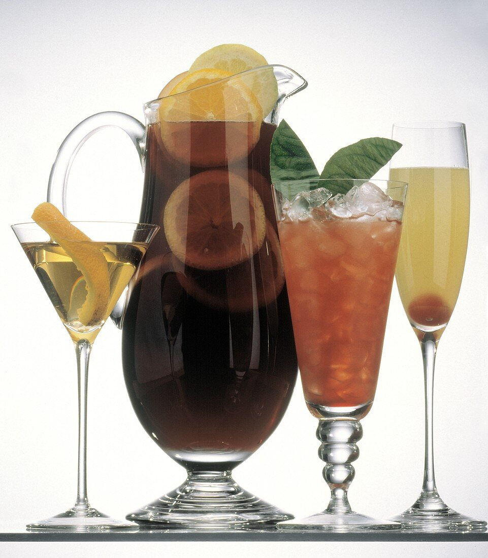 Four Assorted Cocktails from Spain