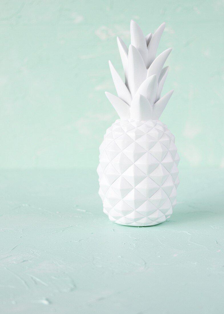 A white porcelain pineapple decoration