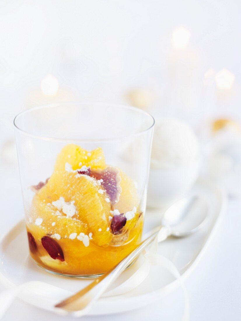 Orange salad with dried figs (Christmas)