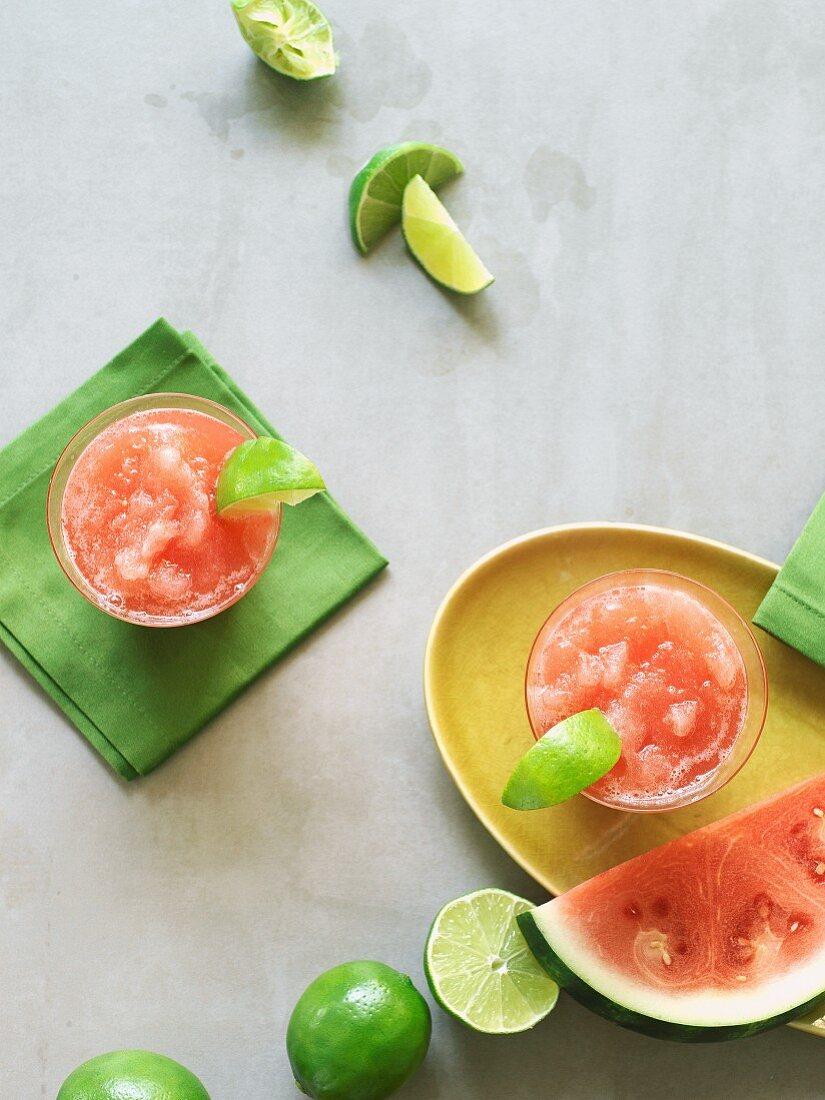 Frozen Margarita with watermelon