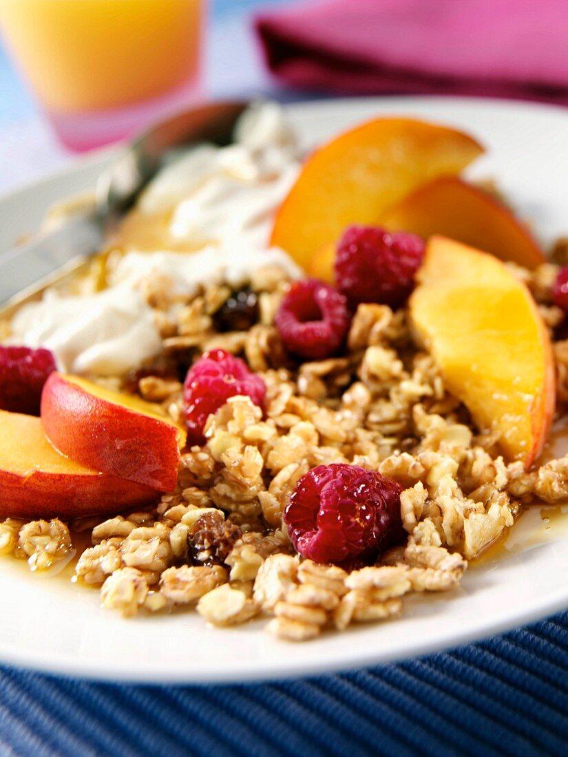 Fruit muesli breakfast