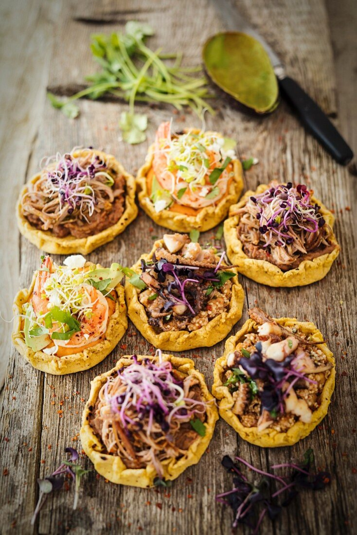 Sopes (Mexican cornflour patties)