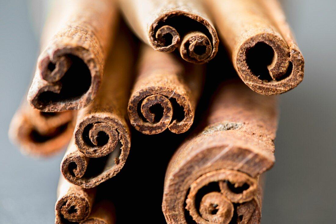 Several cinnamon sticks (close-up)