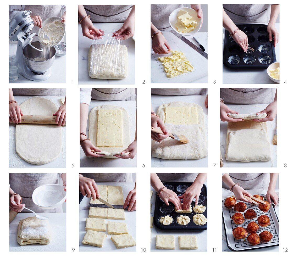 Baking Kouign-amann, the classic buttery Breton pastries
