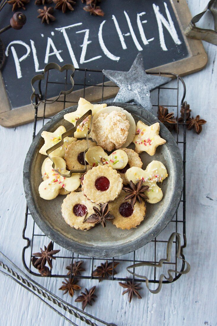 A mixed cookie platter for Christmas