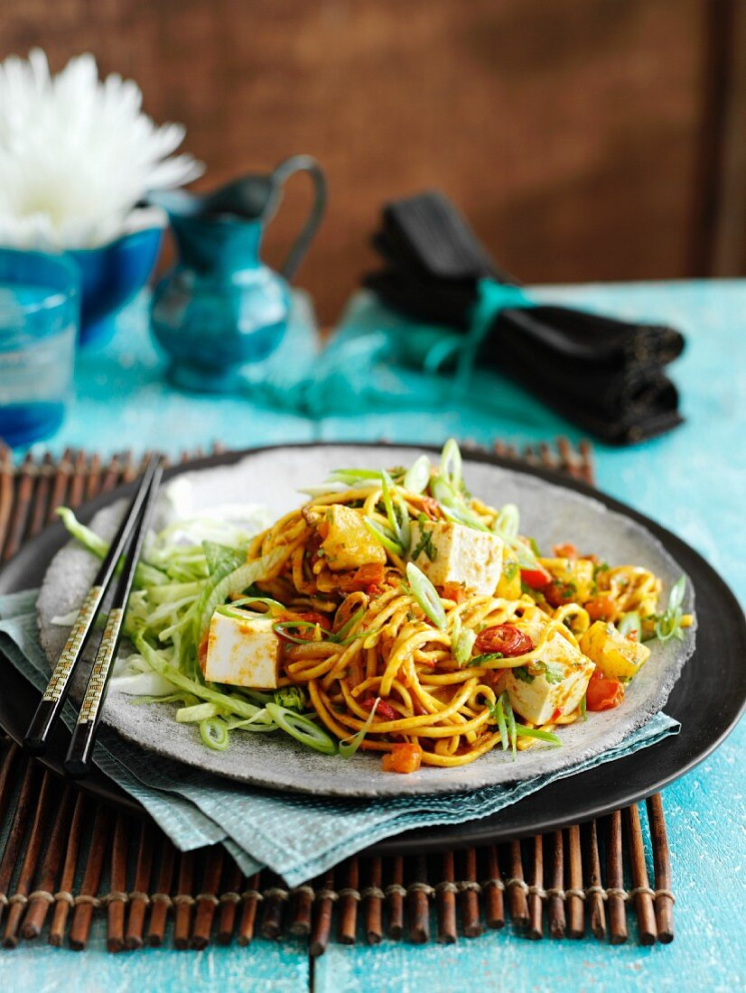 Mie goreng (an Indonesian noodle dish)