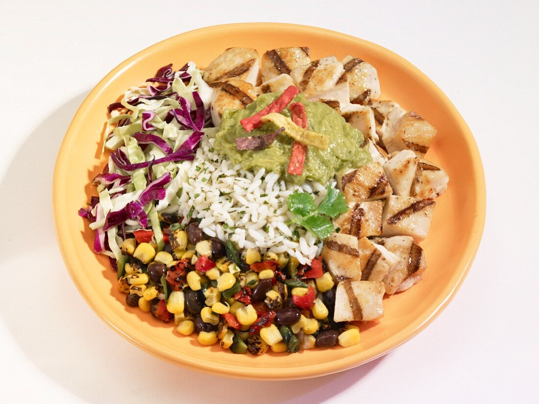 Southwest salad with rice (USA)