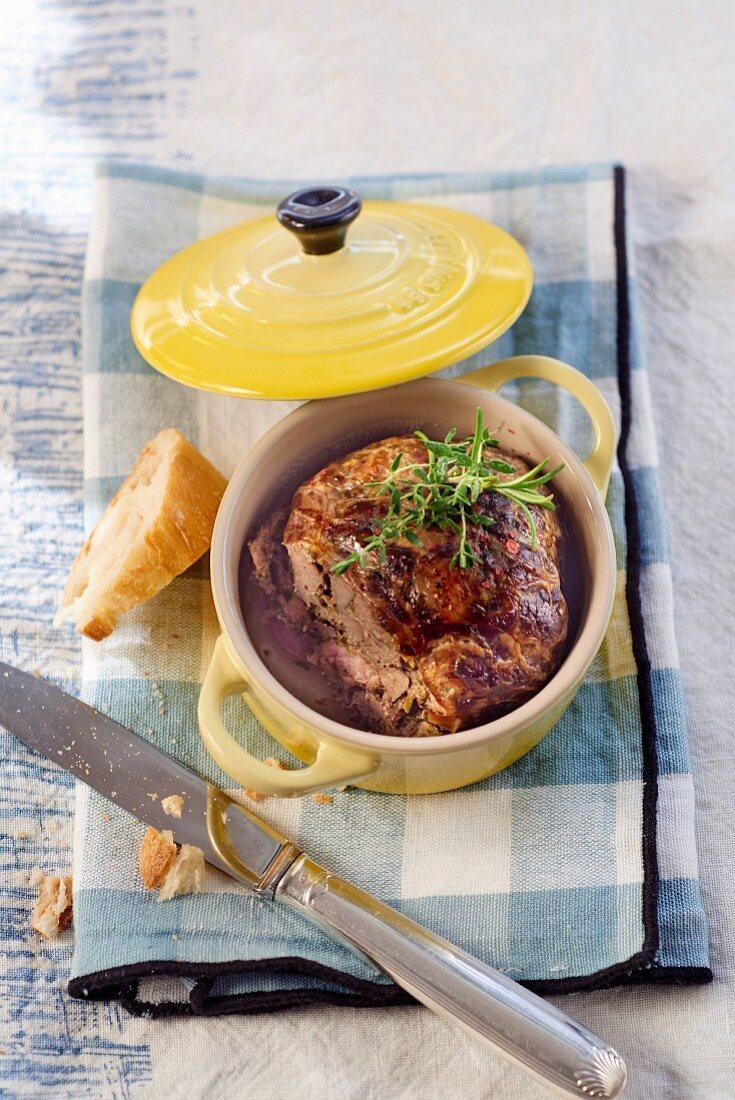 Caillette Provencale (ground meat dumplings, France)