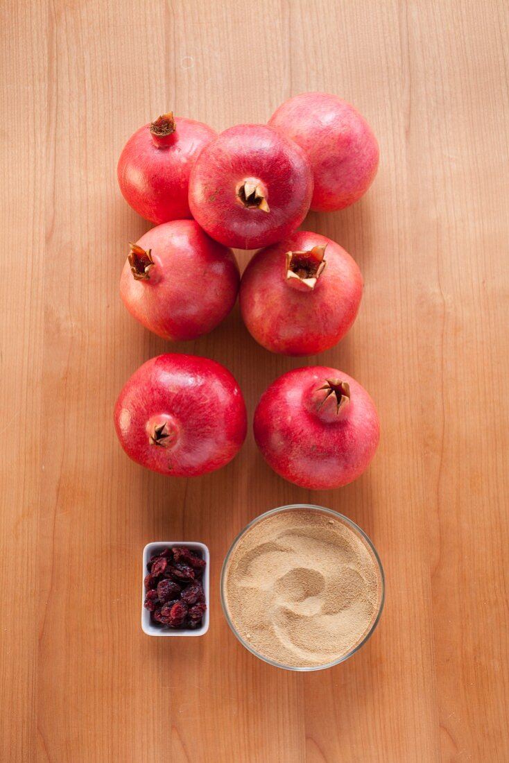 Ingredients for pomegranate sorbet