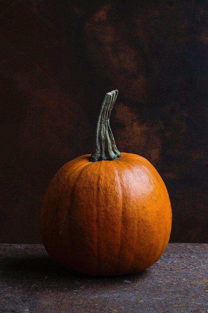 An orange pumpkin for Halloween