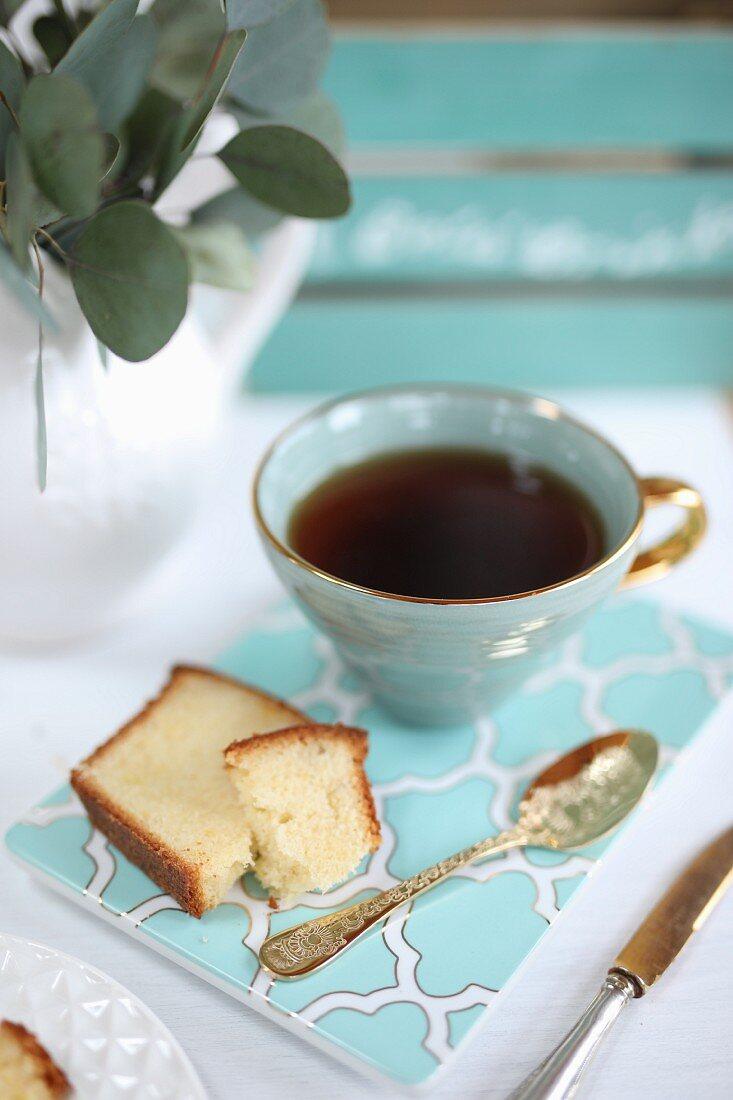 A piece of lemon cake for tea