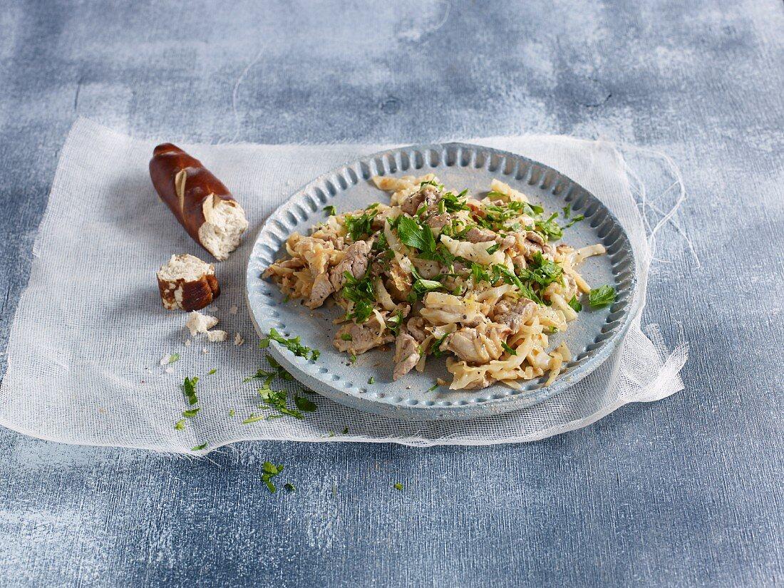 Quick and easy Szegedin pork goulash