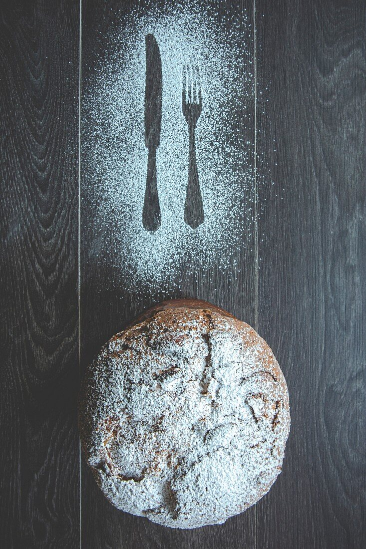 Panettone, Xmas yeast dessert cake, Milan, Lombardy, Italy, Europe