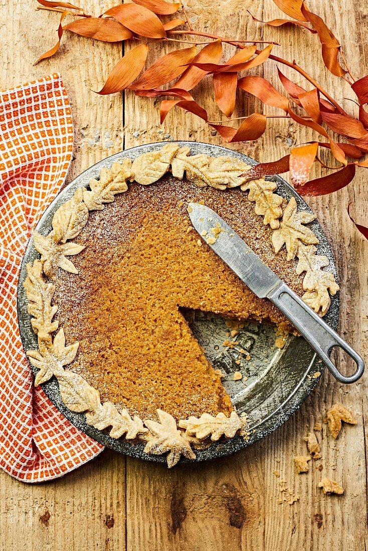 An autumnal treacle tart (England)
