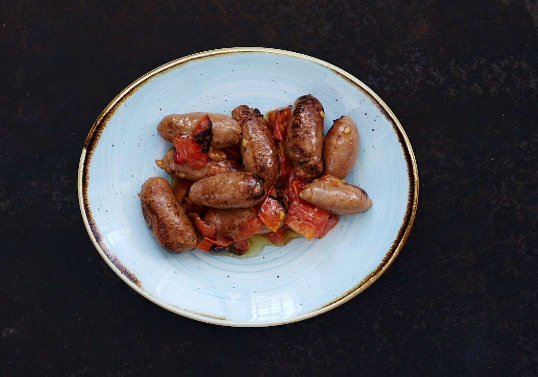 Fried Soujouk (sausages, Lebanon)