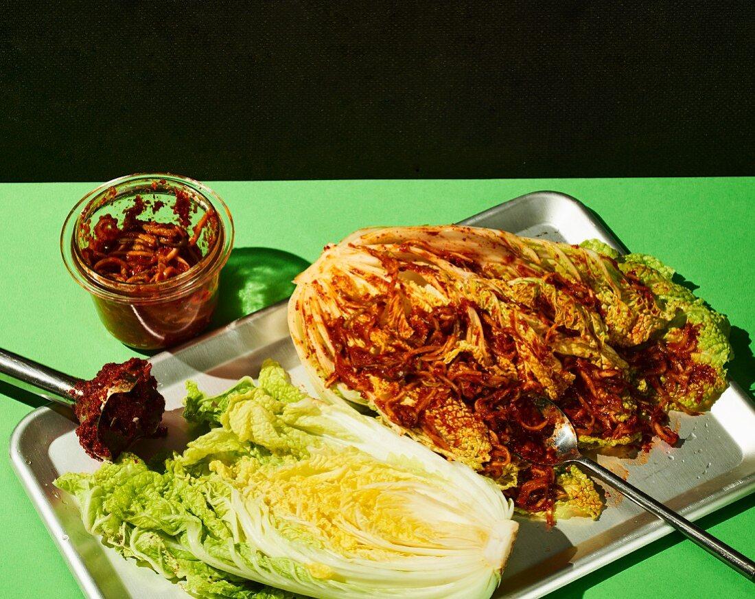 Basic recipe for kimchi (Korea)