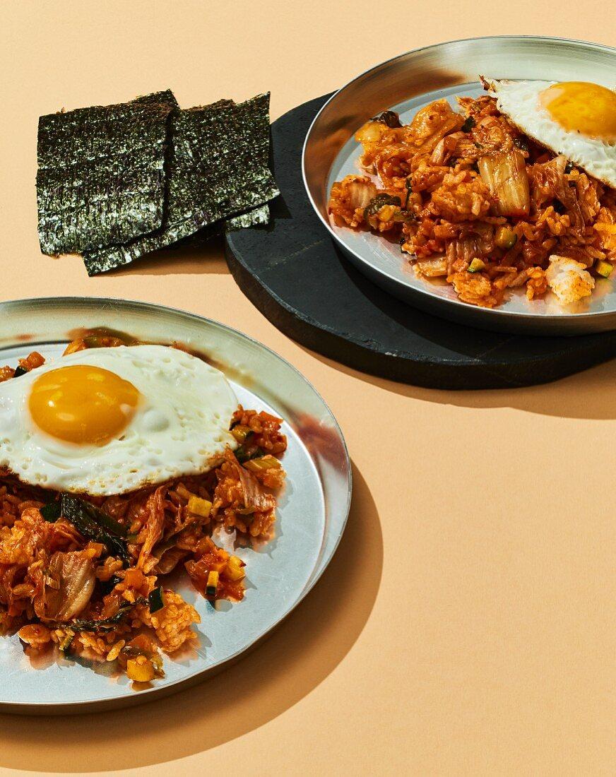 Kimchi bokkeumbap (fried kimchi rice, Korea)