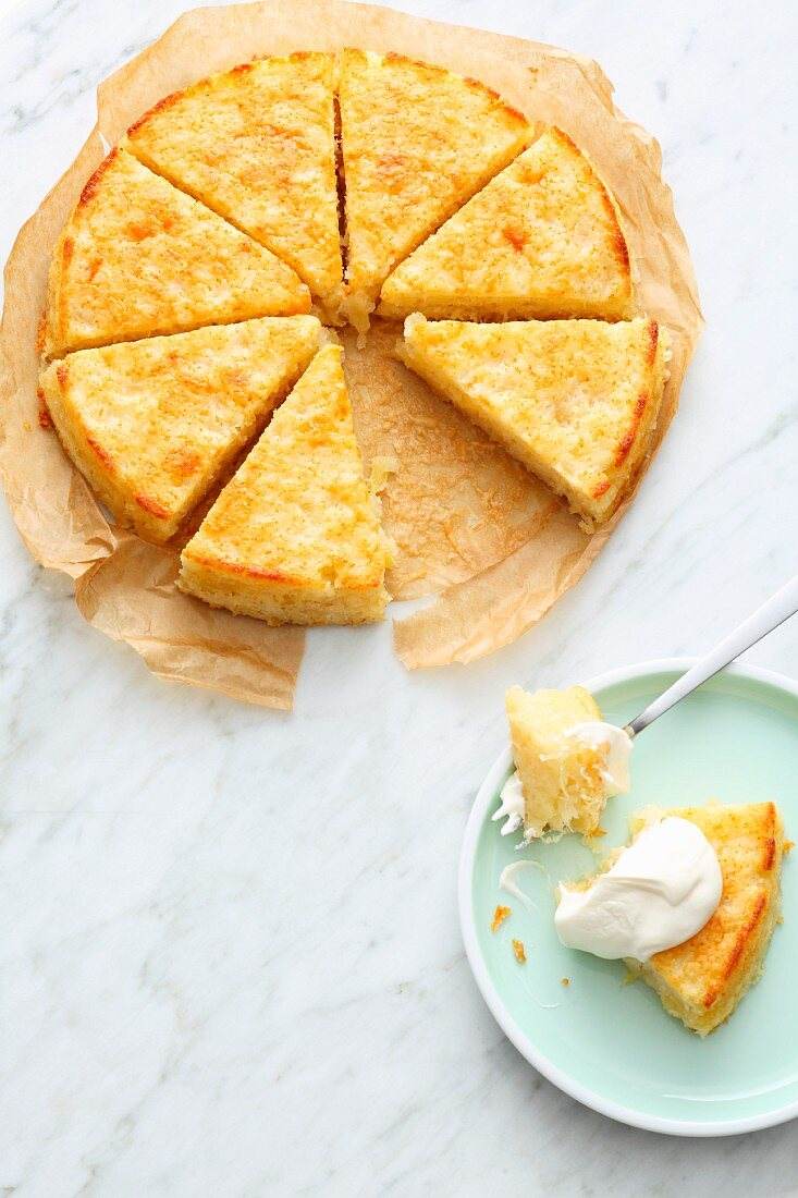 Quick and easy pineapple cake made from tinned pineapple