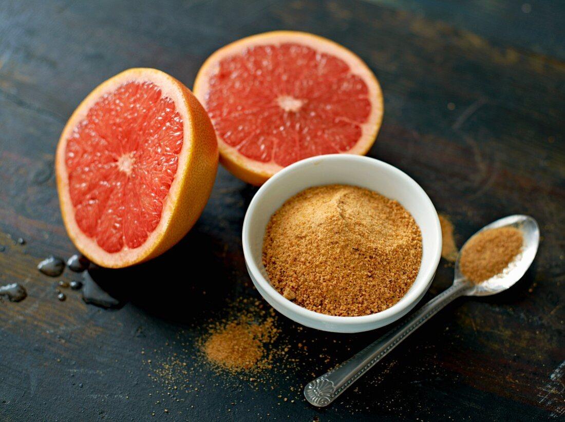 Pink grapefruit and muscovado sugar