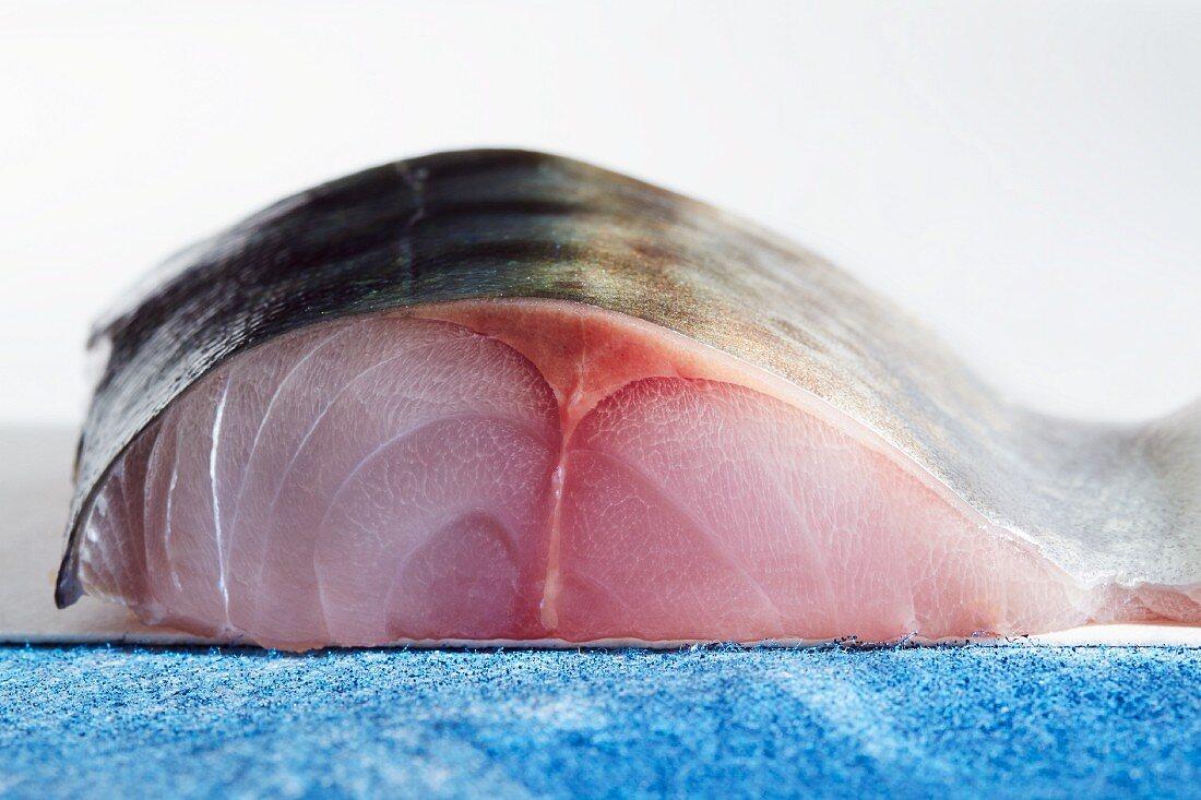 Raw mackerel (close-up)
