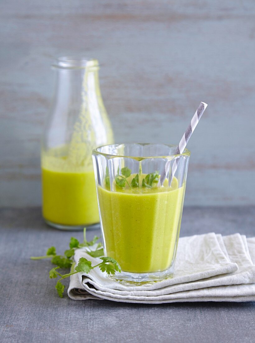 A coconut and mango smoothie - 'Knight Coconut'