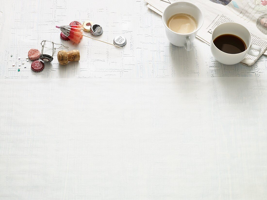 A photo to symbolise party leftovers and coffee the morning after the night before