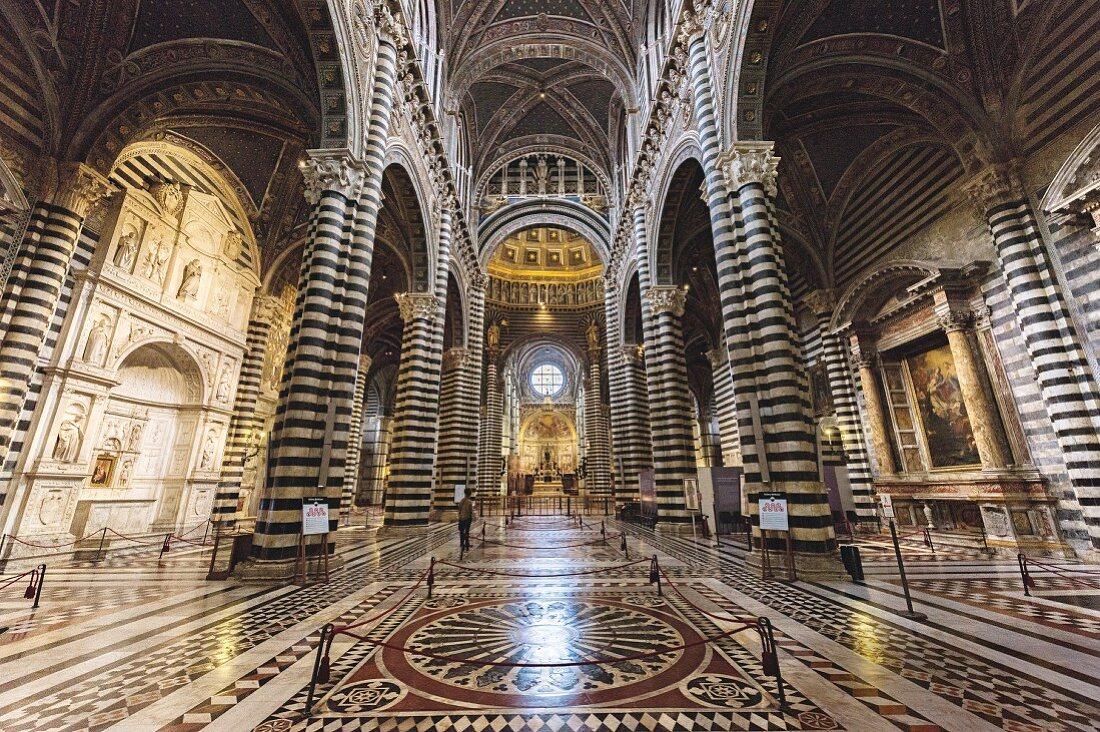 The Santa Maria cathedral in Siena, Tuscany, Italy