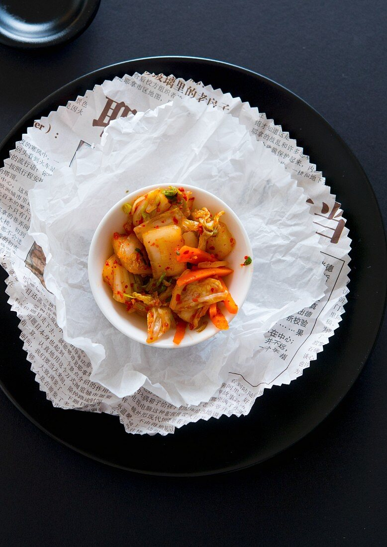 Kimchi (a dish with Chinese cabbage, Korea)