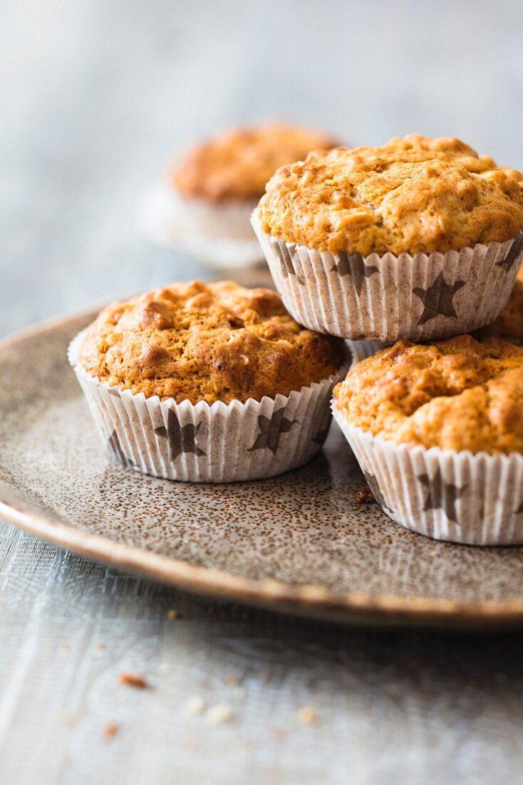 Dinkel-Bananen-Muffins