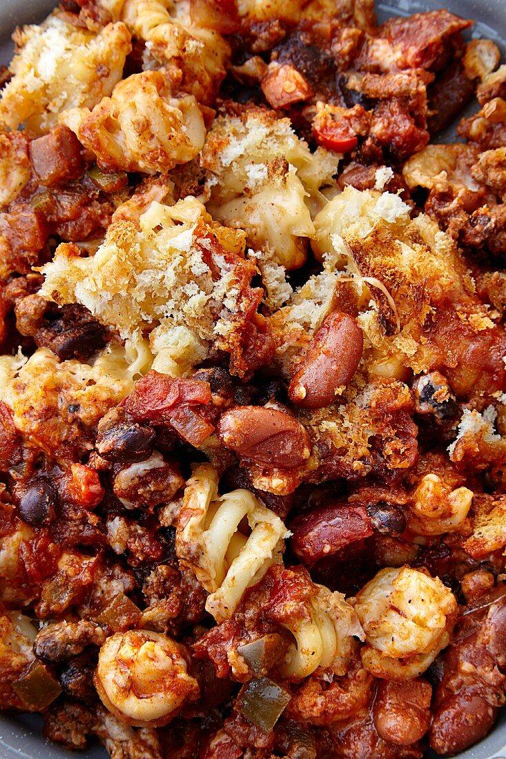 Chili Mac mit Bohnen und Käse