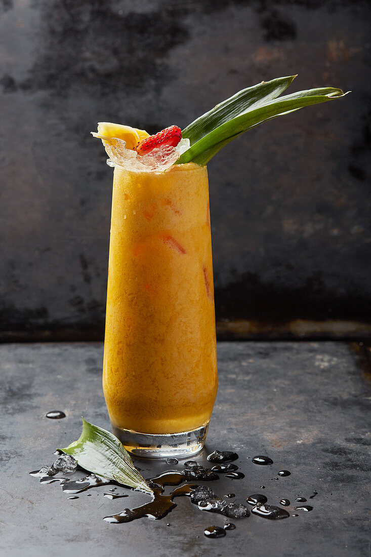 A long drink with pineapple