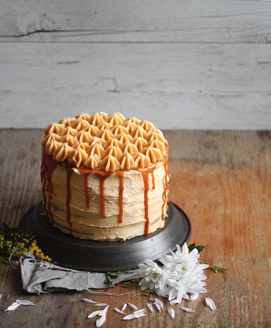 A caramel cake