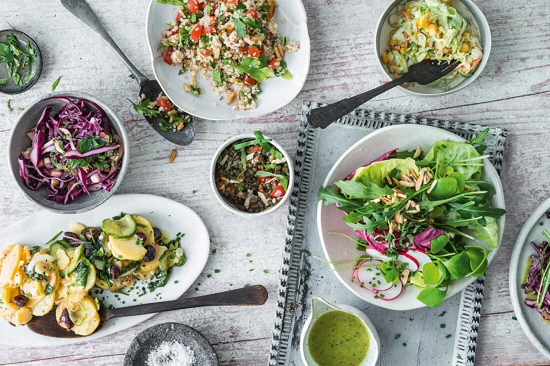 Various salads and side dishes