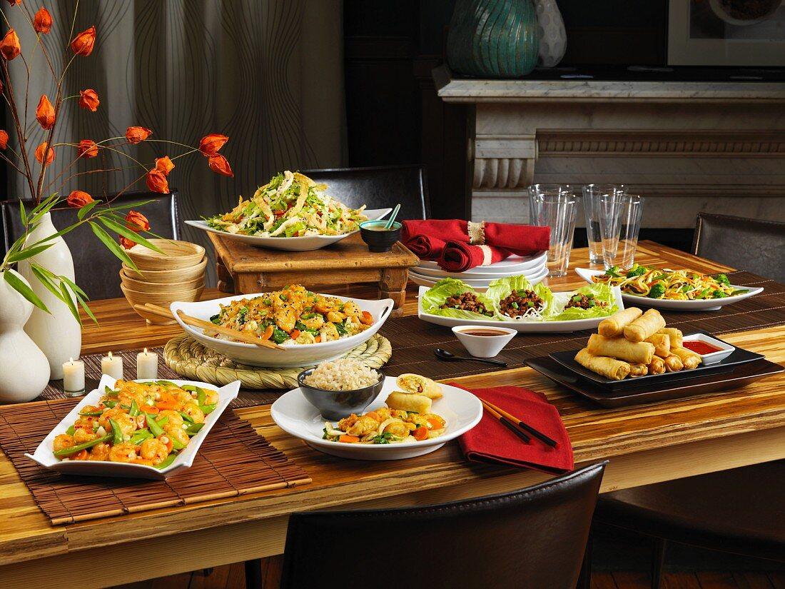 An Oriental buffet