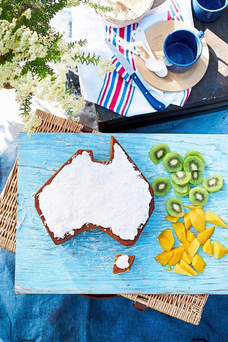 Australia Day Coconut Cake
