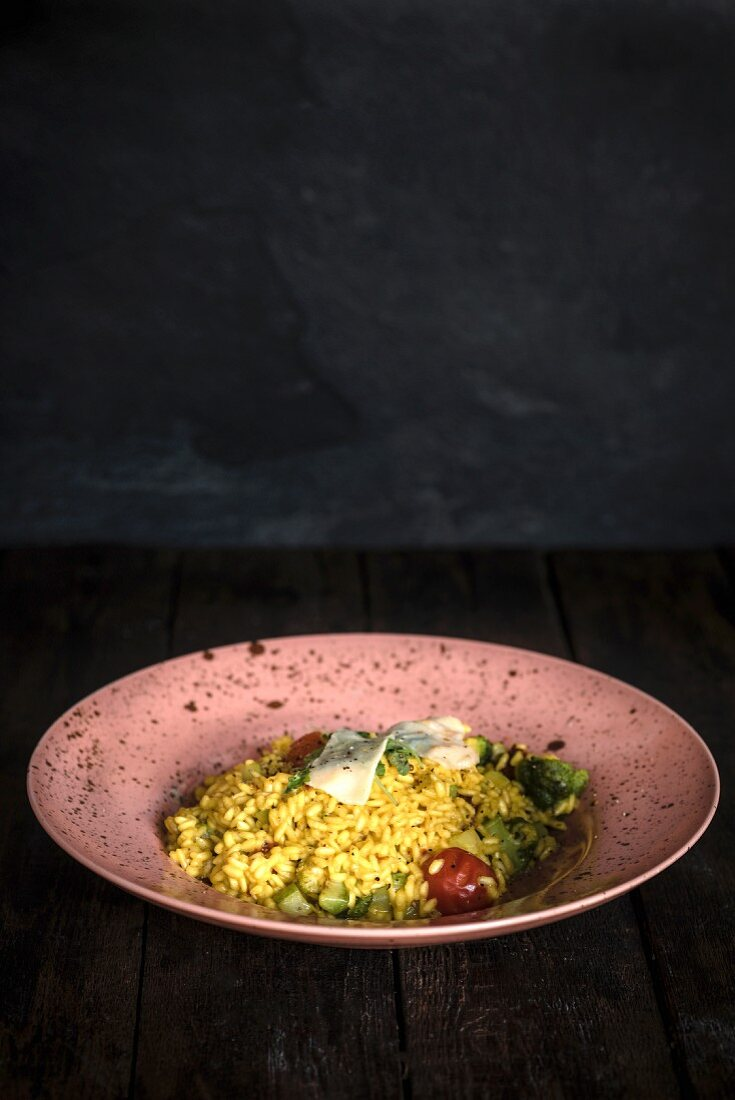 Vegetarian risotto with vegetables