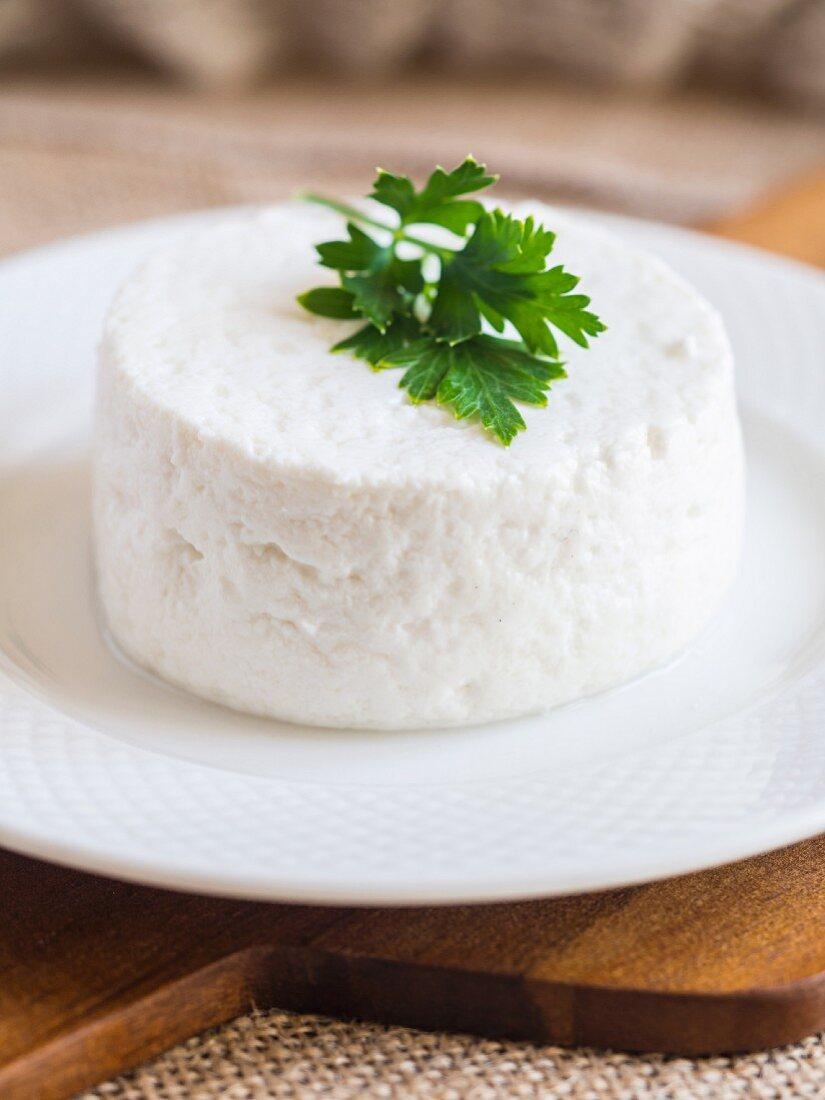 Traditional Portuguese fresh goat cheese (queso fresco)