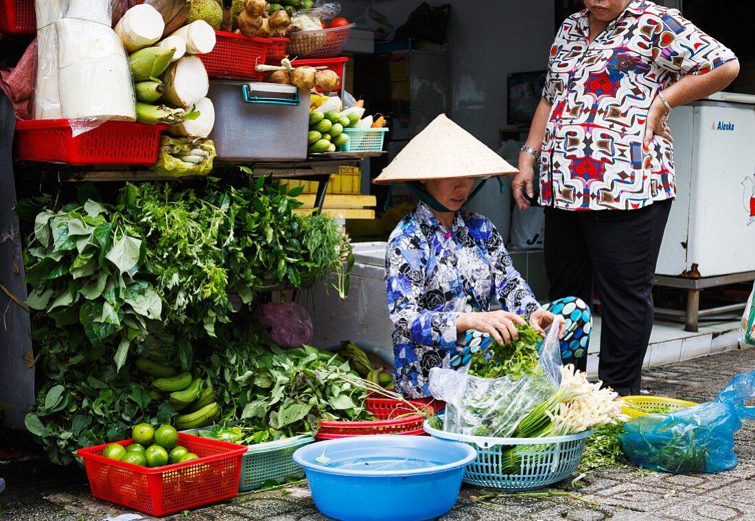 Vegetable Seller in Ho Chi Minh, Vietnam